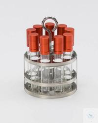 """Reagenzglas-Einsatzgestellfür 9 Reagenzgläser """"test tubes"""""""