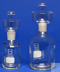 Karlsruher Flaschen 100 ml, langer NS-Stopfen ab Oberkante Schliff 50 mm