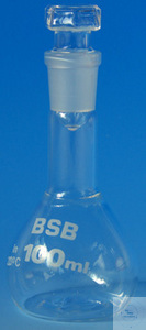 BSB-Kolben mit Stopfen NS 14,5 - 100 ml BSB-Kolben mit Stopfen NS 14,5 - 100 ml