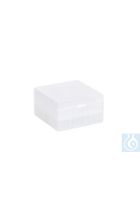 Cryo Boxes, PP, natural, grid 9 x 9,  133 x 133 x 75 mm Cryo Boxes, PP,...