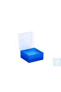 Cryo Boxes, PP, blue, grid 9 x 9,  133 x 133 x 75 mm Cryo Boxes, PP, blue,...
