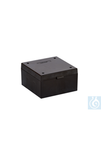 Cryo Boxes, PP, black, grid 9 x 9,  133 x 133 x 75 mm Cryo Boxes, PP, black,...