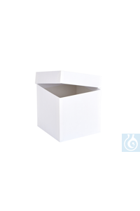 ratiolab® Cryo-Boxes, cardboard, standard, white, 133 x 133 x 130 mm...