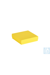 ratiolab® Cryo-Boxes, cardboard,  standard, yellow, 133 x 133 x 32 mm...