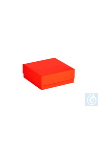 ratiolab® Cryo-Boxes, cardboard,  standard, red, 133 x 133 x 50 mm ratiolab®...