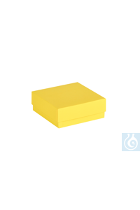ratiolab® Cryo-Boxes, cardboard,  standard, yellow, 133 x 133 x 50 mm...