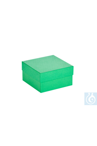 ratiolab® Cryo-Boxes, cardboard,  standard, green, 133 x 133 x 75 mm...