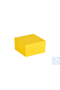 ratiolab® Cryo-Boxes, cardboard,  standard, yellow, 133 x 133 x 75 mm...