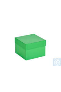 ratiolab® Cryo-Boxes, cardboard,  plastic coated, green, 133 x 133 x 100 m m...