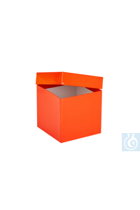 ratiolab® Cryo-Boxes, cardboard,  plastic coated, red, 133 x 133 x 130 mm...