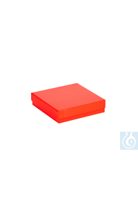 ratiolab® Cryo-Boxes, cardboard,  standard, red, 136 x 136 x 32 mm ratiolab®...