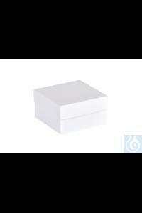 ratiolab® Kryo-Boxen, Karton, standard, weiß, 136 x 136 x 75 mm ratiolab®...
