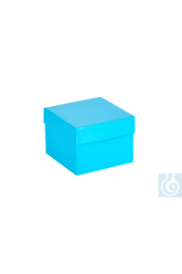 ratiolab® Cryo-Boxes, cardboard,  plastic coated, blue, 136 x 136 x 100 mm...