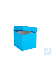 ratiolab® Cryo-Boxes, cardboard,  plastic coated, blue, 136 x 136 x 130 mm...