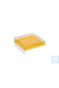 Cryo-Boxes, PC, grid 9 x 9, yellow,  132 x 132 x 52 mm Cryo-Boxes, PC, grid 9...