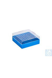 Cryo-Boxes, PC, grid 10 x 10, blue,  132 x 132 x 52 mm Cryo-Boxes, PC, grid...