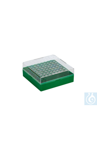 Cryo-Boxes, PC, grid 10 x 10, green,  132 x 132 x 52 mm Cryo-Boxes, PC, grid...
