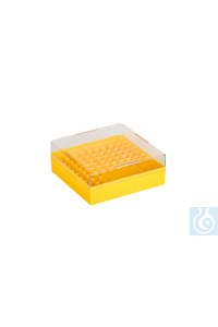 Cryo-Boxes, PC, grid 10 x 10, yellow,  132 x 132 x 52 mm Cryo-Boxes, PC, grid...