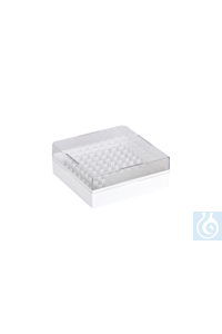 Cryo-Boxes, PC, grid 10 x 10, white,  132 x 132 x 52 mm Cryo-Boxes, PC, grid...