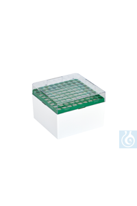 Cryo-Boxes, PC, grid 9 x 9, green,  132 x 132 x 94 mm Cryo-Boxes, PC, grid 9...