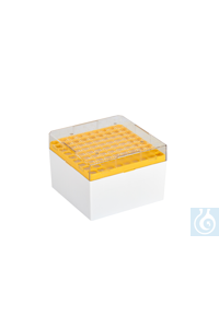 Cryo-Boxes, PC, grid 9 x 9, yellow,  132 x 132 x 94 mm Cryo-Boxes, PC, grid 9...