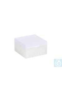 ratiolab® Cryo-Boxes, PP, without grid,  natural, 133 x 133 x 75 mm ratiolab®...
