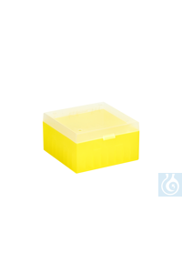 ratiolab® Cryo-Boxes, PP, without grid,  yellow, 133 x 133 x 75 mm ratiolab®...