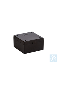 ratiolab® Cryo-Boxes, PP, without grid,  black, 133 x 133 x 75 mm ratiolab®...