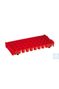 Work Station for 40 cryo tubes,  PP, red Work Station for 40 cryo tubes,  PP,...