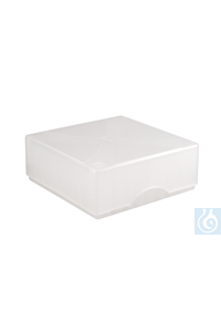 ratiolab®Cryo-Boxes, PP, grid 8 x 8, nat ural, 133 x 133 x 50/75 mm,...