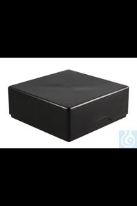 ratiolab®Cryo-Boxes, PP, grid 8 x 8, bla ck, 133 x 133 x 50/75 mm, combi-lid,...