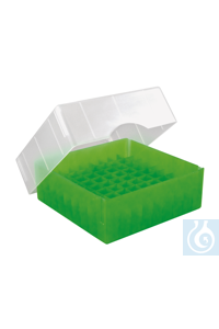ratiolab®Cryo-Boxes, PP, grid 6 x 6, gre en, 133 x 133 x 50/75 mm, combi-lid,...