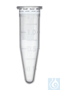 Microcentrifuge Tubes, PP, 1.5 ml, without cap, natural Microcentrifuge...