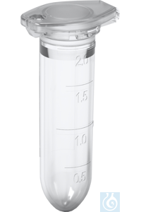 Safety-Cap Microcentrifuge Tubes, PP, 2. 0 ml,natural, RNase-/DNase-/DNA-/endotox ins-free