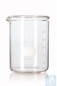 DURAN®-Super Duty Bechergläser Vol. 150 ml, Ø außen 60 mm, H 80 mm