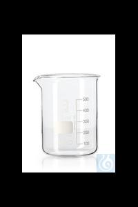 Bechergläser, niedrige Form, DURAN® mit Teilung und Ausguss, 600 ml
