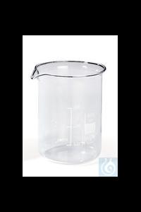 Rotilabo®-Becherglas, Borosilikatglas niedr. Form, Teilung u. Ausguss, 5000 ml
