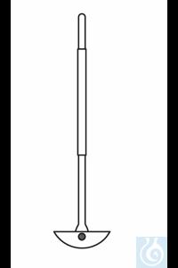 KPG-stirrer shaft, D: 10 L: 160 mm, lateral PTFE blade, total L: 410 mm