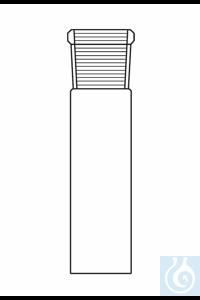 Sockets acc. to DIN 12258, NS 100/60, tube 110 mm, borosilicate glass 3.3
