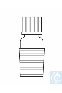 Übergangsstück Kern NS 19/26-Gewinde GL14, mit Kappe und Dichtung ⌀ 6 komplett