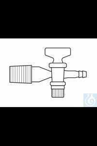 Desiccator stopcock, cone NS 24, glass plug
