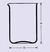 Maatbeker lage vorm 600 ml, met tuit, helder kwartsglas, vgl. DIN 12332