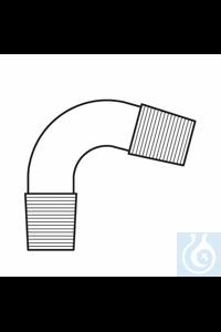 Bend 2 x cone ST 14, angled 75°, Duran borosilicate glass 3.3