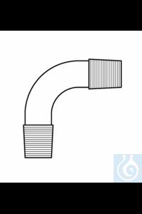 Bend 2 x cone ST 14, angled 90°, Duran borosilicate glass 3.3