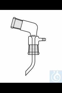 Bent adapter, Bredt, socket NS 14, socket NS 19