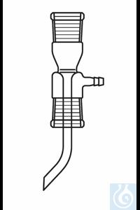 Straight adapter, Bredt, socket NS 14, socket NS 19