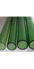Tubes in colored borosilicate glass 3.3, dia 30 x wall 2 x L= +-1220, green