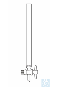 Chromatography column 200 mm length (filling height), inner ⌀ I-Ø 15 mm PTFE stopcock, with...