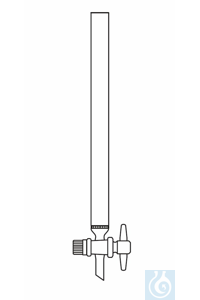 Chromatography column 800 mm length (filling height), inner ⌀ I-Ø 40 mm PTFE stopcock, with...