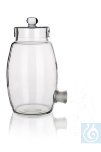 Aspirator bottle with NS 29/32 outlet, 20000 ml, neck Ø 160, complete with glass lid with knob,...
